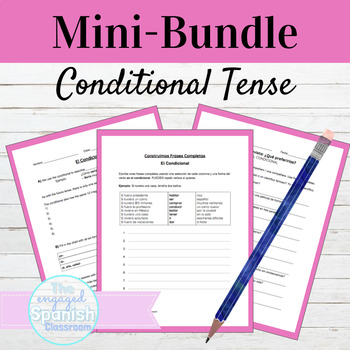 Spanish Conditional Tense Grammar MINI BUNDLE: El Condicional