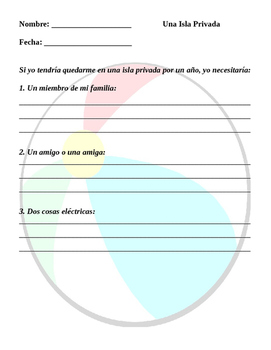Spanish Conditional Tense: Island Project