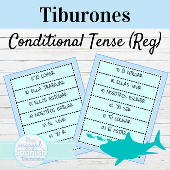 Spanish Conditional Tense (Regular) Tiburones Conjugation Game: El Conditional