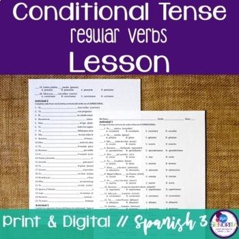 Spanish Conditional Tense Regular Verbs Lesson