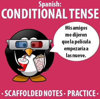 Spanish - Conditional Tense - Scaffolded notes & practice