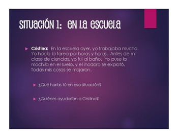 Spanish Conditional Tense Situations