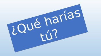 Spanish Conditional Tense Speaking Activity