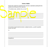 Spanish Conditional Tense Speaking and Writing Activity