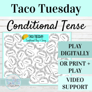 Spanish Conditional Tense TACO TUESDAY Conjugation Game, E