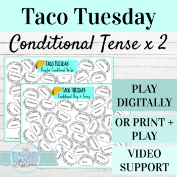 Spanish Conditional Tense Taco Tuesday Games