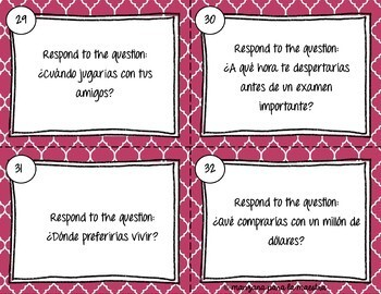 Spanish Conditional Tense Task Cards