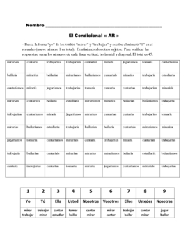 Spanish Conditional Activity Based on Sudoku