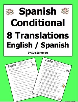 Spanish Conditional Tense Verbs With the Preterit Workshee