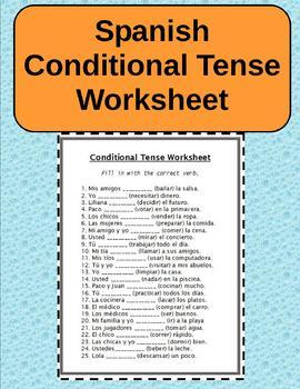 Spanish Conditional Tense Worksheet