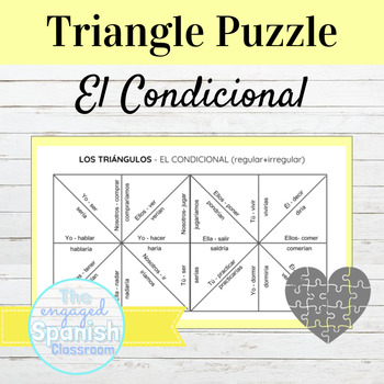 Spanish Conditional Tense (el condicional) Conjugation Puzzle
