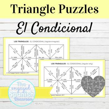 Spanish Conditional Tense (el condicional) Conjugation Puzzles