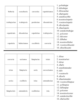 Spanish Conditional Verb Activities - Magic Sqaures