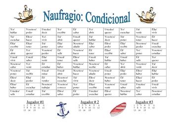 Spanish Conditional Verb Form Activity (Naufragio)