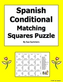 Spanish Conditional Verbs Regular and Irregular 4 x 4 Matching Squares Puzzle