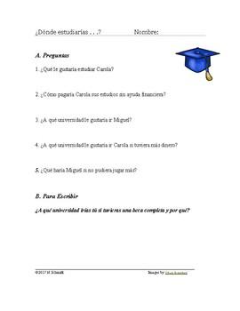 Spanish Imperfect Subjunctive & Conditional Reading (Universidad)
