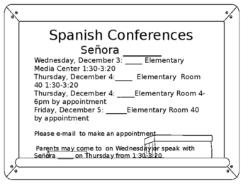 Spanish Conference Form