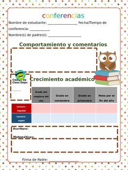 Spanish Conferences Sheet