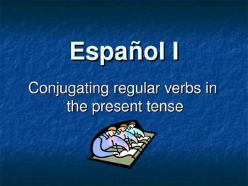 Spanish Conjugating Present Tense Regular -AR, -ER, -IR Ve