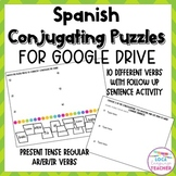 Spanish Conjugating Verbs Puzzles for Google Drive