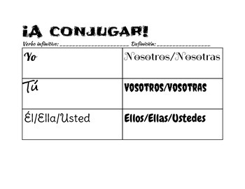Spanish Conjugation Activity