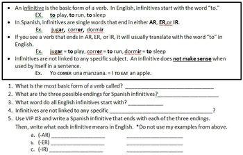 Spanish Conjugation Basics - Self-teaching lesson