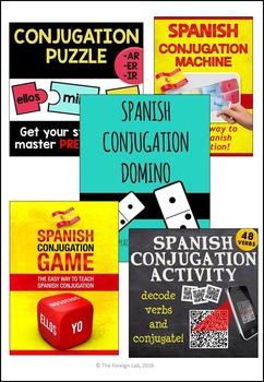 Spanish Conjugation Games Bundle – Dynamic Conjugation Activities
