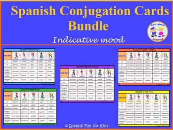 Spanish Conjugation Cards Bundle