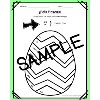 Spanish Easter Conjugation Eggs #teachmorespanish