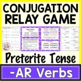 Spanish Conjugation Relay Game Preterite AR verbs | Spanish Activity