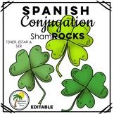 Spanish St. Patrick's Day Conjugation Shamrocks