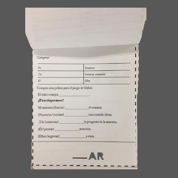 Spanish Conjugation of Regular & Irregular Verbs Flip Book and Student Handouts
