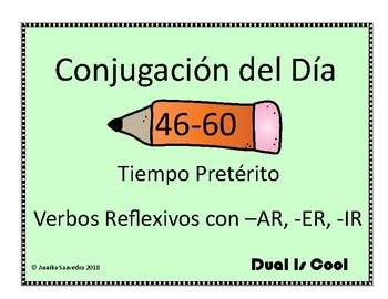 Spanish Conjugation of the Day 46-60 (Conjugación del Día 46-60)