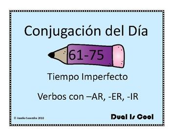 Spanish Conjugation of the Day 61-75 (Conjugación del Día 61-75)
