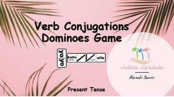 Spanish Conjugations Dominoes Game