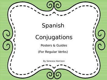 Spanish Conjugations Posters & Guides
