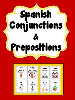 Spanish Conjunction and Preposition Cards