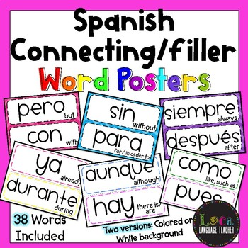 Spanish Connecting/Filler Word Posters