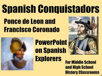 Spanish Conquistadors Ponce de Leon & Coronado PowerPoint