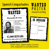 Spanish Conquistadors Wanted Poster ESL Latin American Wor