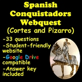 Spanish Conquistadors Webquest (Hernan Cortes and Francisco Pizarro)