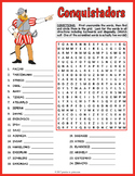 Spanish Conquistadors Word Search and Scramble Puzzle