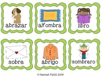 Spanish Consonant Cluster Picture Cards