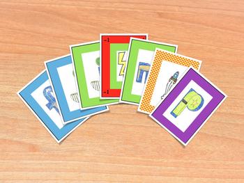 Spanish Consonants Card Game - Juego de cartas de consonantes en español