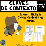 Spanish Context Clues Task Cards-CLAVES DE CONTEXTO