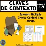 Spanish Context Clues Task Cards-CLAVES DE CONTEXTO