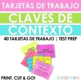 Spanish Context Clues Task Cards - 40 Tarjetas - Claves de