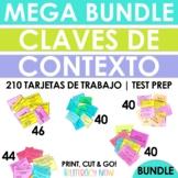 Spanish Context Clues Task Cards - Claves de contexto - Te