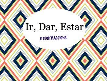 Spanish IR, DAR, ESTAR, and Contractions Keynote for Mac, iPad, Etc.
