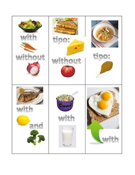 Spanish Conversation Activity: Ordering Food with combinations